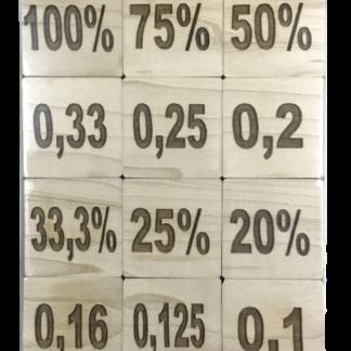 Legekartenspiel Dezimalbrüche und Prozente wie Memory