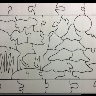 Puzzle Weihnachten zum selber Anmalen