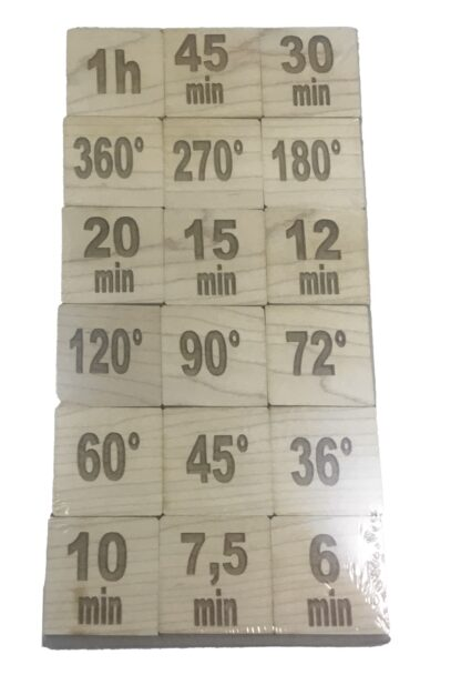 Skalenspiel Minuten Grad aus Echtholz